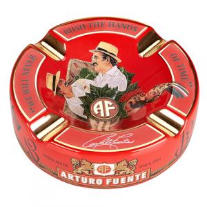 Arturo Fuente The Fuente Story keramický popelník červený