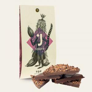 TOP 67% tmavá čokoláda s kousky bobů 50 g Jordis