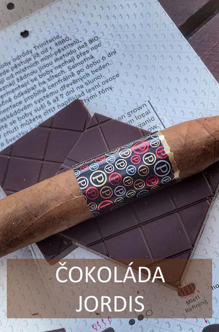Nabídka čokolád Jordis